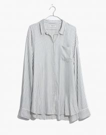 Tunic shirt in dalton stripe at Madewell
