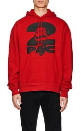 Tupac by 424 Fist-Print Cotton Terry Oversized Hoodie at Barneys