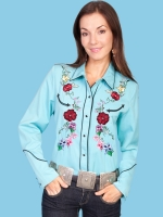 Turquoise Panderosa shirt by Scully at The Wild Cowboy