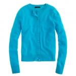 Turquoise blue cardigan like Mindys at J. Crew