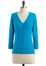 Turquoise blue cardigan like Mindys at Modcloth