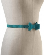 Turquoise bow belt at White House