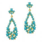 Turquoise teardrop earrings by Kenneth Jay Lane at JC Penney
