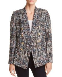 Tweed Double-Breasted Blazer at Bloomingdales