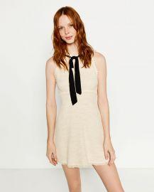 Tweed Dress with Layered Skirt at Zara