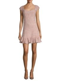 Tweed Flounce Dress Rebecca Taylor at Saks Fifth Avenue