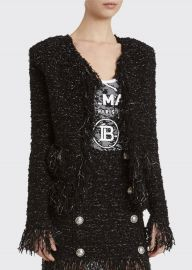 Tweed Fringe-Hem Blazer at Bergdorf Goodman