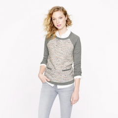 Tweed Front Pullover at J. Crew