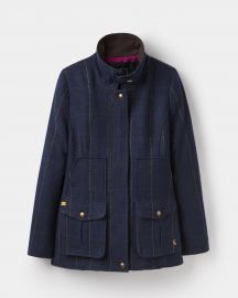 Tweed Navy Check Fieldcoat by Joules US at Joules