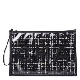 Tweed PVC Lambskin Large Pouch by Chanel at Fashionphile