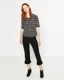 Tweed Peplum Top at Zara