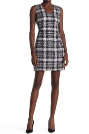 Tweed Plaid Mini Dress by Theory at Nordstrom Rack