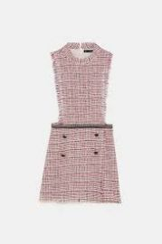 Tweed Playsuit with Chain Detail at Zara