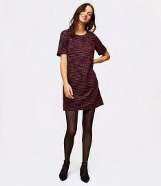Tweed Pocket Shift Dress at Loft