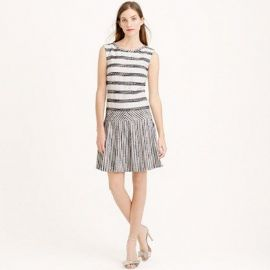 Tweed-Striped Drop-Waist Dress at J. Crew