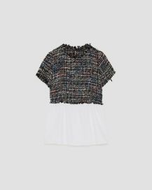 Tweed Top by Zara at Zara