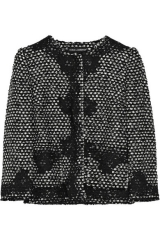 Tweed and lace applique jacket by Dolce and Gabbana at Net A Porter