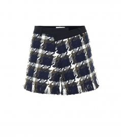 Tweed and twill shorts at Mytheresa