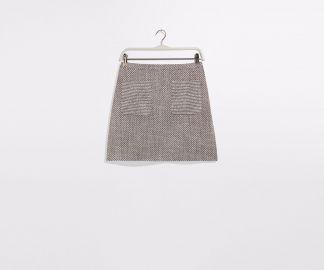 Tweed mini skirt at Oasis