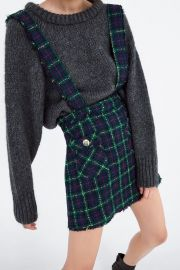 Tweed overall skirt at Zara