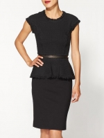 Tweed peplum top from Piperlime at Piperlime