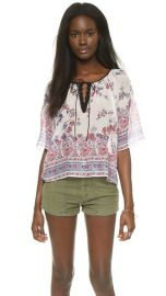 Twelfth St by Cynthia Vincent Peasant Crop Top at Shopbop