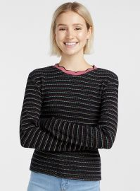 Twik Organic cotton wavy collar ribbed tee at Simons