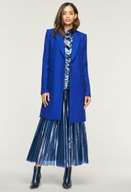 Twill Coating Eva Slim Coat by Milly at Milly