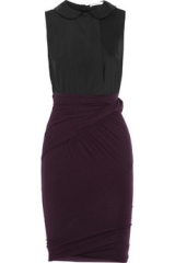 Twill and jersey dress by Carven at The Outnet