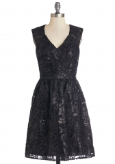 Twinkling at Twilight Dress in Noir at ModCloth