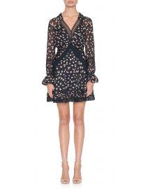 Twist-Front Ditsy Mini Dress at Fivestory