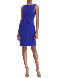 Twist-Front Jersey Dress Lauren Ralph Lauren at Lord & Taylor