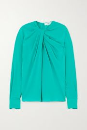 Twist-front silk-crepe blouse at Net a Porter