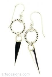 Twisted Circle Warrior Earrings at Arte Designs