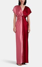 Twisted Colorblocked Silk Satin Gown by Prabal Gurung at Saks Fifth Avenue
