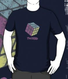 Twisted Rubiks Cube Shirt at Red Bubble