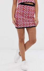 Two-Piece Check Tweed Mini Skirt at Asos