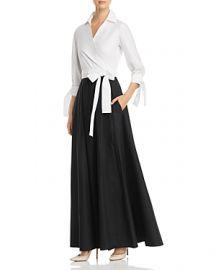 Two-Tone Maxi Wrap Dress by Paule Ka at Bloomingdales
