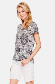 Two by Vince Camuto  Zebra Plains  Linen Jersey Tee at Nordstrom