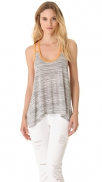 Two strap tank in orange by Blue Life at Shopbop