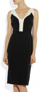 Two tone crepe dress by Antonio Berardi at Net A Porter