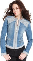 Two tone denim jacket by Guess at Macys