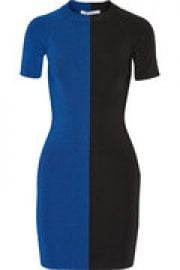 Two-tone jersey mini dress at The Outnet