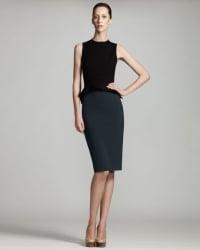 Two tone peplum dress by Stella McCartney at Bergdorf Goodman