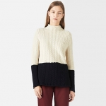 Two tone sweater by Lacoste at Lacoste