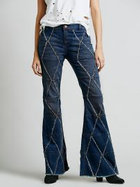 Tyler Pieced Flare Jeans at Free People