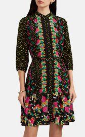 Tyra Dot-   Floral-Pattern Silk Dress at Barneys
