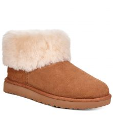 UGG reg  Women s Classic Mini Fluff Booties   Reviews - Boots - Shoes - Macy s at Macys