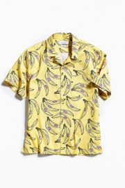 UO Banana Short Sleeve Button-Down Shirt at Urban Outfitters