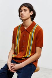 UO Baxter Button-Down Sweater Polo Shirt at Urban Outfitters
